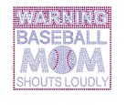 Warning Baseball Mom